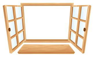 Fenêtre ouverte vecteur