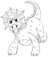 Doodles dessinant animal pour dragon vecteur
