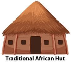 Une cabane africaine traditionnelle vecteur