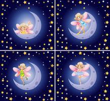 Scènes avec fée et étoiles