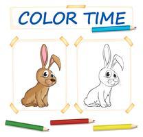 Modèle de coloration avec lapin