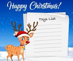 Liste de jouets pour modèle de Noël