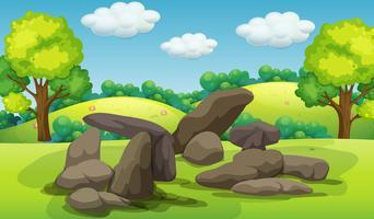 Une belle pierre dans la nature vecteur