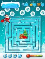 Modèle de jeu de labyrinthe de Noël vecteur