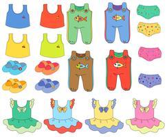Vêtements enfants vecteur