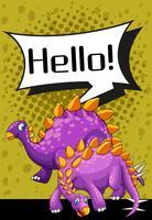 Conception de l'affiche avec deux stegosaurus vecteur