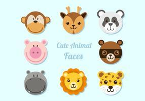 Collection Visages d'animaux vecteur