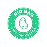 Bio Bag 100% compostable à base de pomme de terre. vecteur
