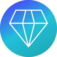 Icône de diamant de vecteur