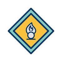 Icône de panneau de signalisation agent oxydant vecteur