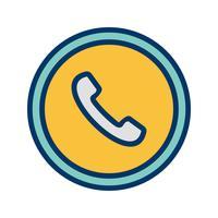 Icône de panneau de signalisation téléphonique vecteur