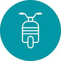 Icône de scooter de vecteur