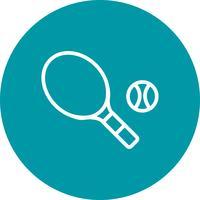Illustration vectorielle d'icône de tennis