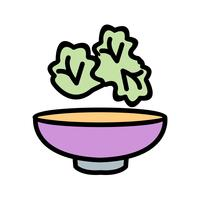 Icône de salade de vecteur