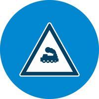Icône de signe de route de train niveau vecteur