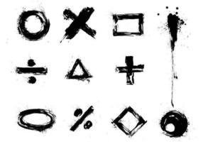 Ensemble de signe et de symbole vectoriel grunge