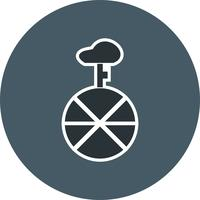 Icône de monocycle de vecteur