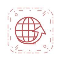 Vecteur autour de l'icône du monde