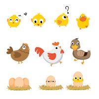 design des personnages animaux vecteur