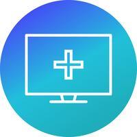 Icône d'aide médicale en ligne de vecteur
