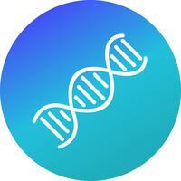 Icône d'ADN de vecteur