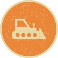 Icône de bulldozer de vecteur