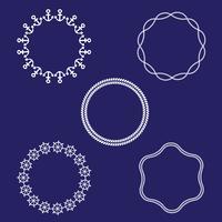 cadres nautiques circulaires vecteur