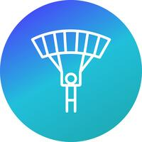 Illustration vectorielle de parachutiste icône