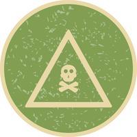 Icône de signe de route gaz vecteur poison