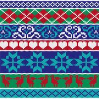 motifs de bordure en tricot nordique