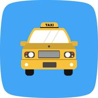 Icône de taxi de vecteur