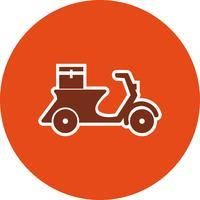 Icône de vecteur livraison moto