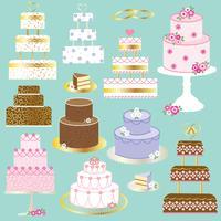 gâteau de mariage clipart vecteur