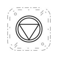 Distance vecteur pour arrêter l'icône de panneau de signalisation