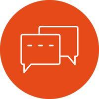 Icône de conversation de vecteur