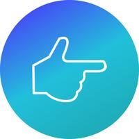 Illustration vectorielle de main icône