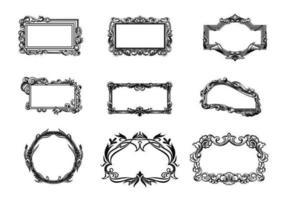 Pack vecteur cadre - Cadres dessinés à la main