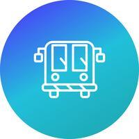 Icône de bus de l'aéroport de vecteur