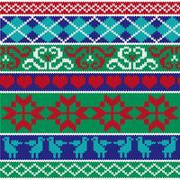 motifs tricotés de bordure nordique