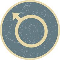 Icône masculine de vecteur