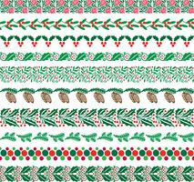 motifs de frontière de Noël vecteur