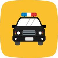 Icône de voiture de police de vecteur