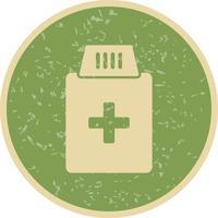 Icône de bouteille de médicament de vecteur