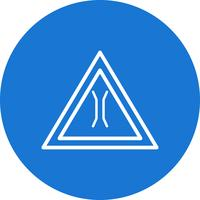 Icône de panneau de signalisation de pont étroit de vecteur