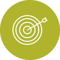 Illustration vectorielle icône Bullseye
