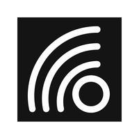 Icône de flux RSS Vector