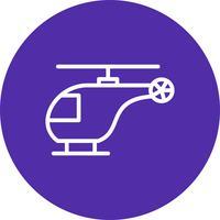 Icône d'hélicoptère de vecteur