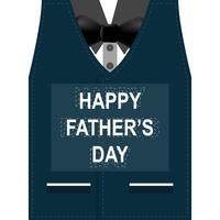 Carte de voeux bonne fête des pères. Concevoir avec noeud papillon, moustache, lunettes noires sur fond de papier rétro.