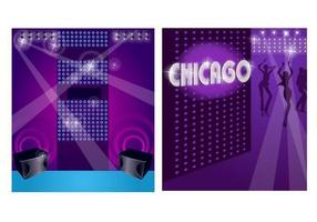 Ensemble de papier peint de vecteur Disco Disco Chicago