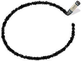 Cadre de crayon ellipse noir, illustration vectorielle. vecteur